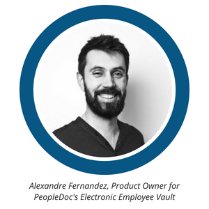 Alexandre Fernandez, Product Owner for PeopleDoc Employee Electronic Vault