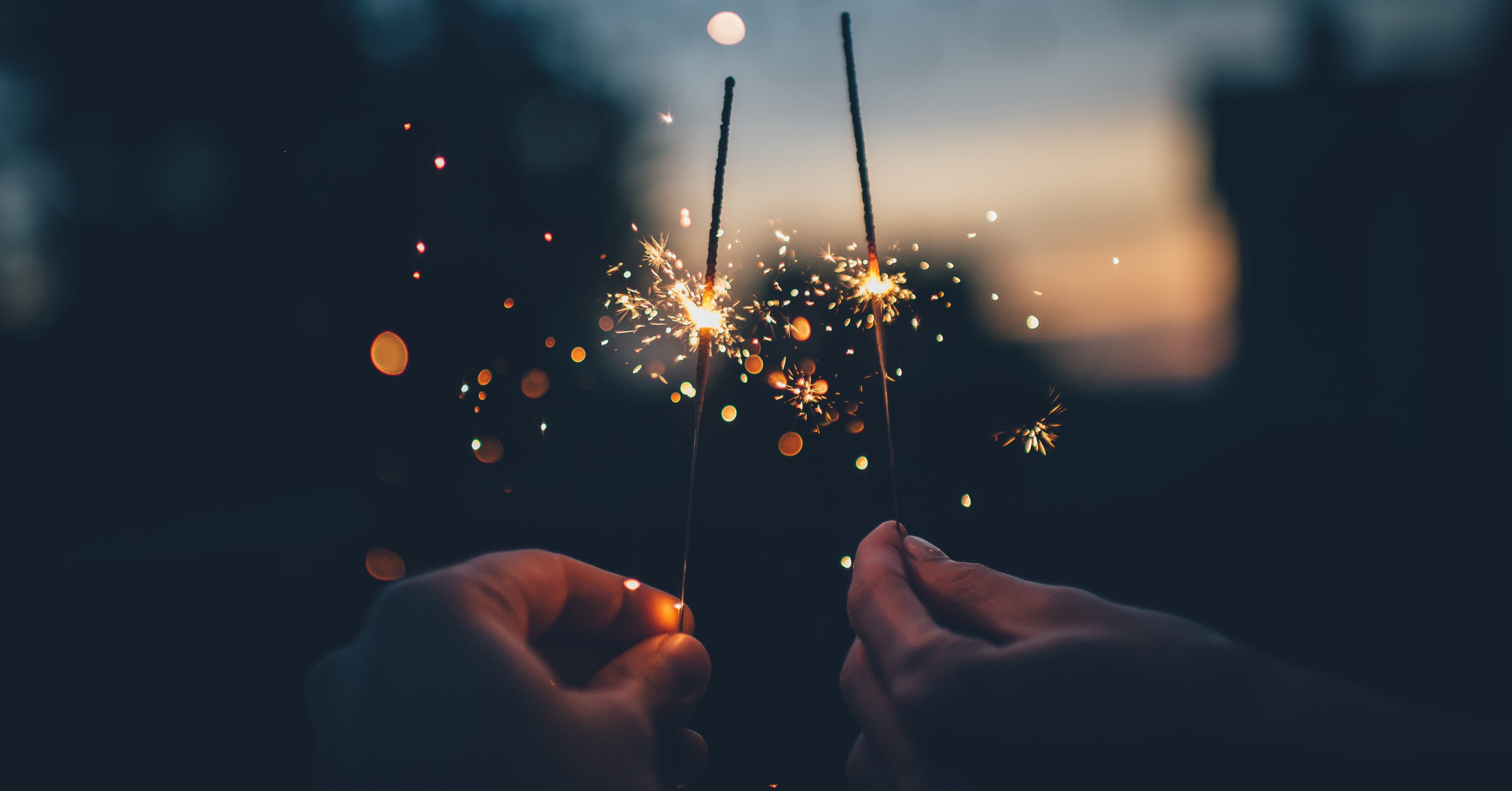 Two Sparklers Indicating Organizational Trust
