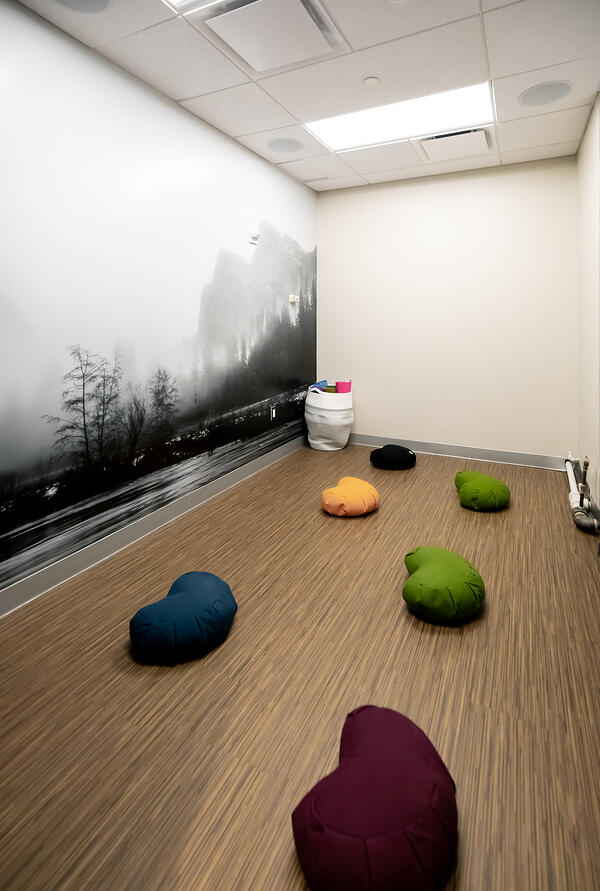 Meditation room in the New York City office