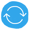 Two arrows forming a circle to represent HR process automation