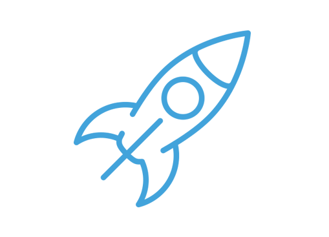 Illustrated rocketship