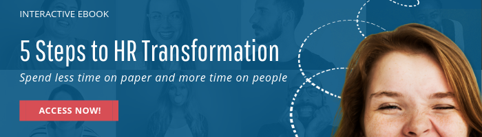 Button to download eBook on 5 steps to HR transformation