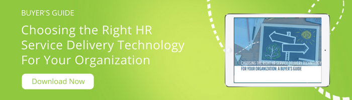 Download the buyer's guide to choosing the right HR Service Delivery technology